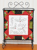 Love, Joy & Peace Charm/Embroidery Pattern